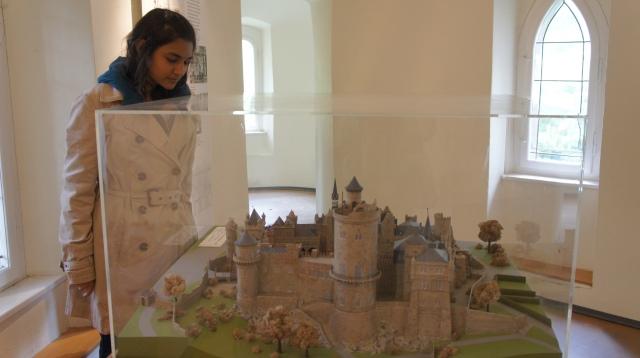 ~Me staring at the model of die Loewenburg