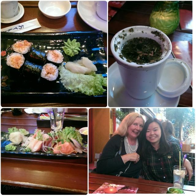 ~Having Sushi!!
