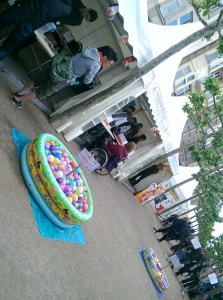 ~The first stall we saw had these water balloon yo-yo things