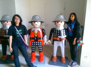 ~Me and Alya at the entrance to the lego museum.
