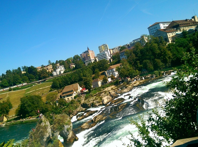 ~Rhinefall waterfall at Zurich. Second largest waterfall in Europe.
