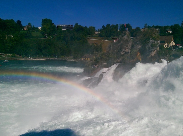 ~ Rainbow at the end of the waterfall